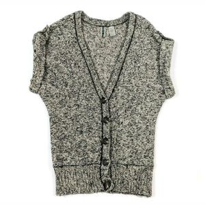 BKE The Buckle Button Sleeve Wool Gray Sweater Top